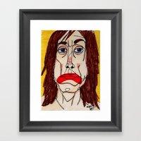 Iggy Pop Framed Art Print