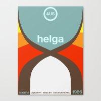 helga single hop Canvas Print