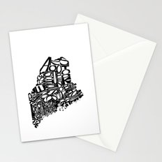 Typographic Maine Stationery Cards