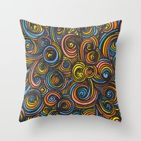 Let Go - Color Throw Pillow