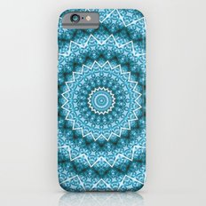 Light Blue Kaleidoscope / Mandala iPhone 6 Slim Case