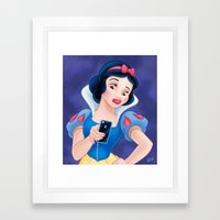 Snow White Duck Face Framed Art Print