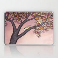 Laptop & iPad Skin featuring Cedar Waxwings On The St… by Sarah Knight