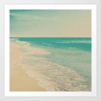 Love Comes In Sea Waves Art Print