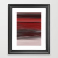 Red Sunset Abstract Seas… Framed Art Print