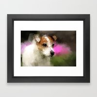 Margo in Forest Hill Garden Framed Art Print
