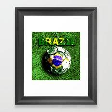 Old football (Brazil) Framed Art Print
