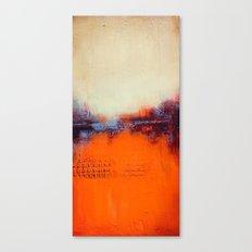 Orange and White Canvas Print