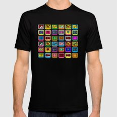 8-bit Game Cartridges Black Mens Fitted Tee SMALL