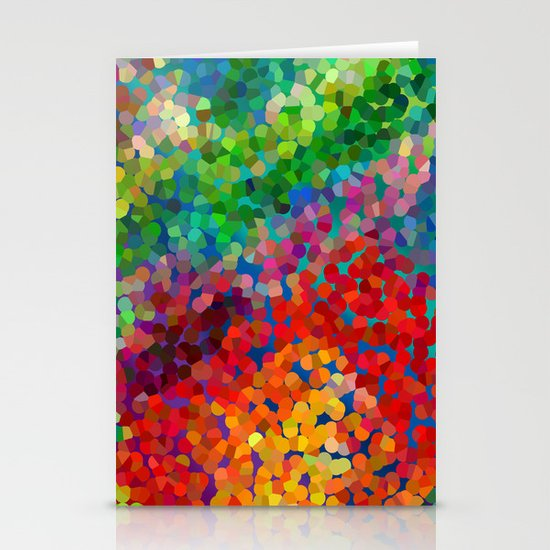 Color Theory Clash Stationery Card