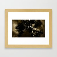 Palm Reaching To The Storm Framed Art Print