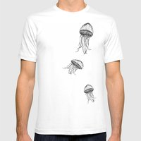 Jellyfish Octopus Creature Imaginitive  Mens Fitted Tee White SMALL