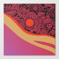 Rose Gold Square Ornamen… Canvas Print