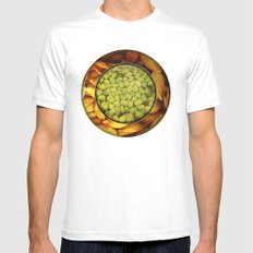 Pasta + Beans Mens Fitted Tee SMALL White