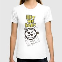 Beach Spike_Hit Me Baby Womens Fitted Tee White SMALL