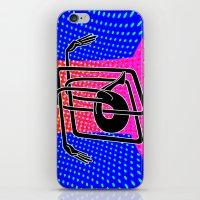 Noodle (blue) iPhone & iPod Skin