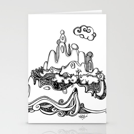 Lonely mountain Stationery Card