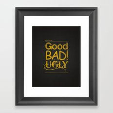 Typography 101 Framed Art Print