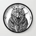Great Horned Owl Wall Clock