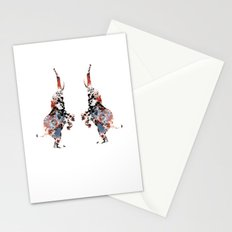 Dancing Elephants Stationery Cards
