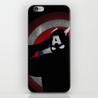 SuperHeroes Shadows : Captain America iPhone & iPod Skin