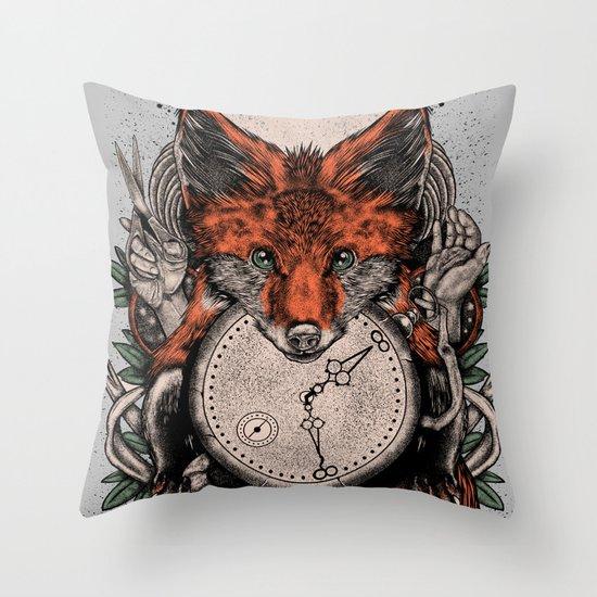 Chaos Fox Throw Pillow