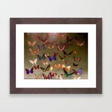 Butterflies Flutter By Framed Art Print