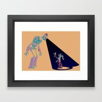 Robot Number 3 and Me Framed Art Print