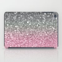 Gray And Light Pink iPad Case