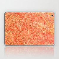 Red And Orange Doodles Laptop & iPad Skin