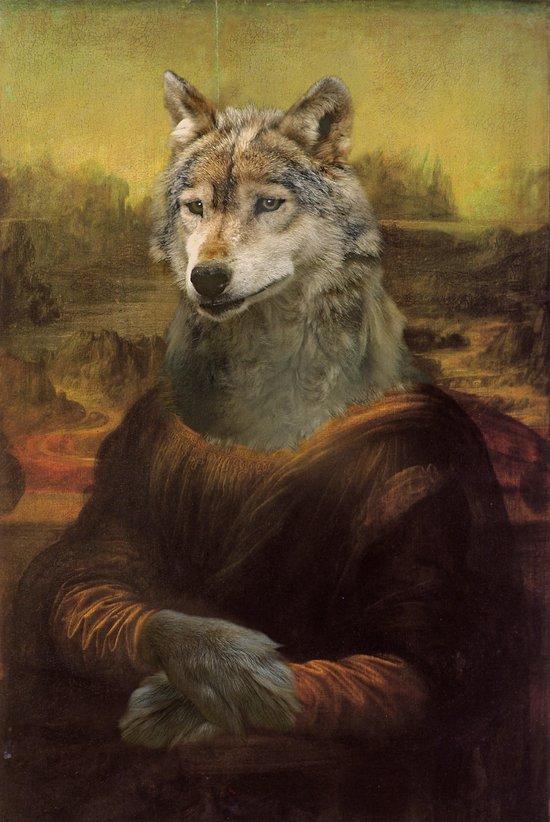 Furry Monnalisa  Art Print