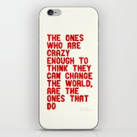 The Crazy Ones iPhone & iPod Skin