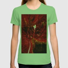 Astral flower Womens Fitted Tee Grass SMALL