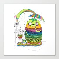 Adventure Time Totoro By… Canvas Print