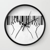 Barcode Pianist Wall Clock