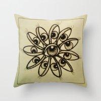 Eye Flower Throw Pillow