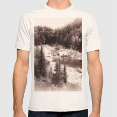 Mountain Lake Mens Fitted Tee Natural SMALL