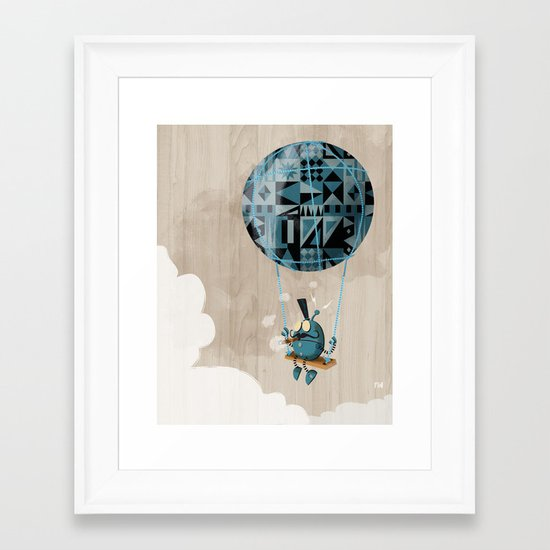 Where clouds come from. Framed Art Print
