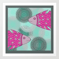 Indian Fish Art Print