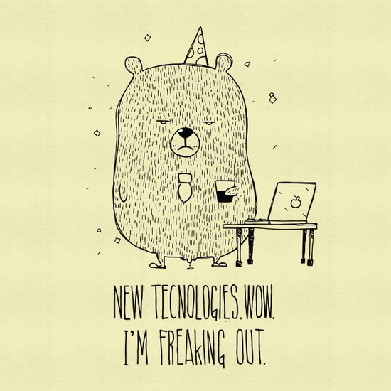 Unemotional Bear vs. Tech Art Print