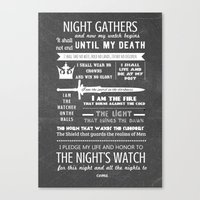Game Of Thrones - The Ni… Canvas Print