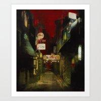 Kamogawa Odori Art Print