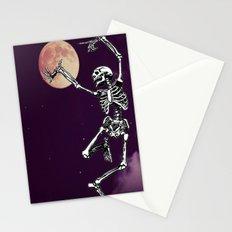 Skeleton & Moon Stationery Cards
