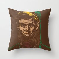 Abraham LINKoln Throw Pillow