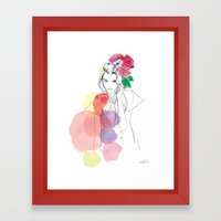Flower Crowns Framed Art Print