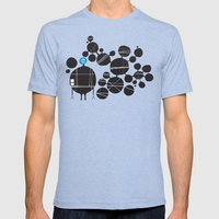 robot Mens Fitted Tee Tri-Blue SMALL