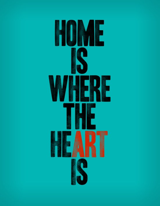 HOME IS WHERE THE HE(ART) IS Canvas Print