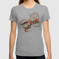 Strong Coffee Womens Fitted Tee Athletic Grey SMALL