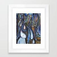 Dewdrop Meets the Rain Framed Art Print
