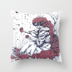The color of the flowers Throw Pillow
